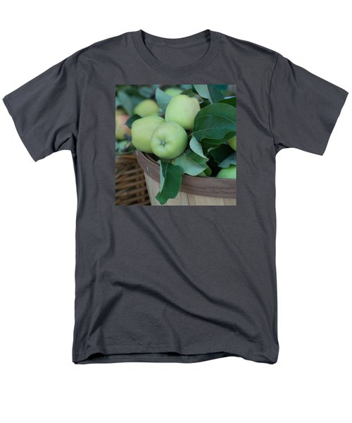 Green Apples In A Basket  Men's T-Shirt  (Regular Fit) by Michael Moriarty