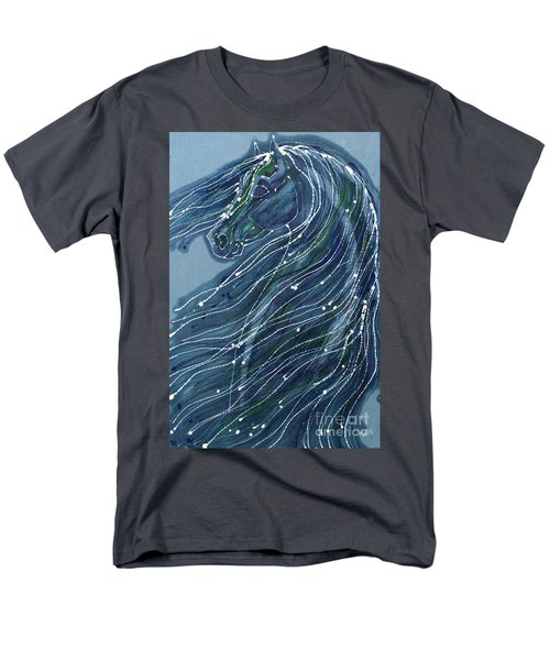 Green Horse With Flying Mane Men's T-Shirt  (Regular Fit)