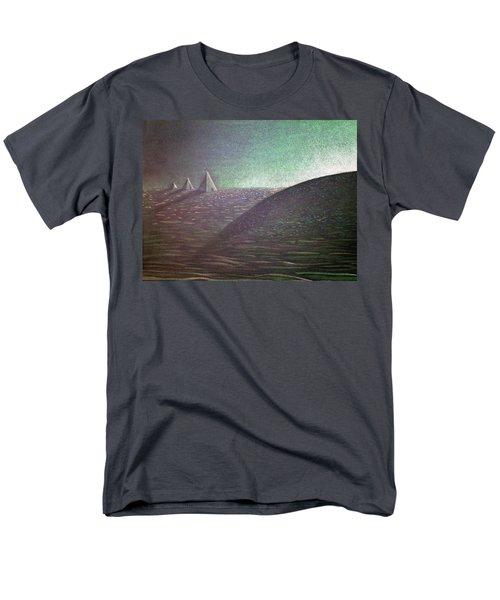 Men's T-Shirt  (Regular Fit) featuring the drawing Green Pyramid B by Mayhem Mediums