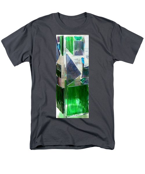 Men's T-Shirt  (Regular Fit) featuring the glass art Green Vase by Jamie Frier