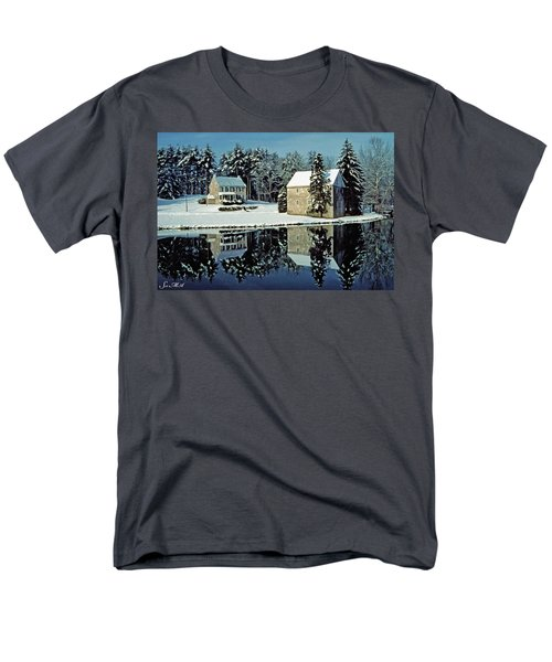 Grings Mill Snow 001 Men's T-Shirt  (Regular Fit) by Scott McAllister