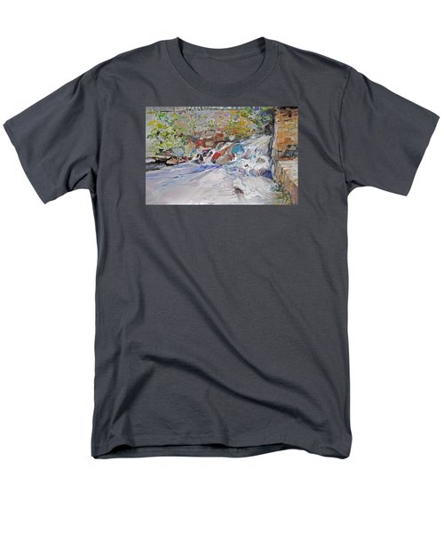 Grist Mill Spill Way Men's T-Shirt  (Regular Fit) by P Anthony Visco