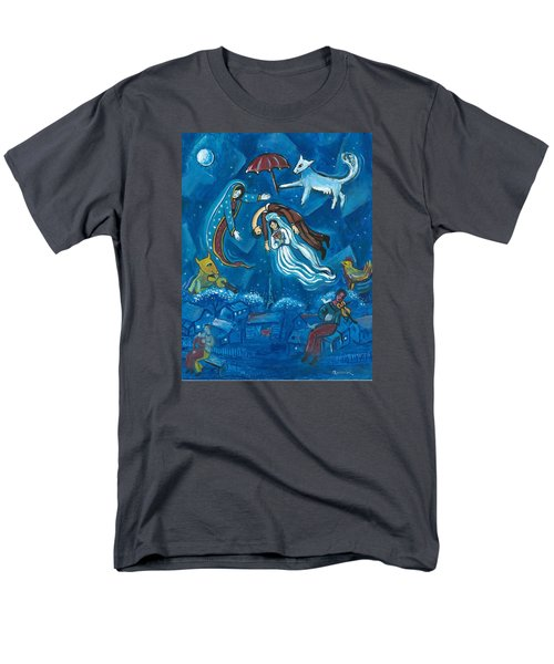 Guadalupe Visits Chagall Men's T-Shirt  (Regular Fit) by James Roderick