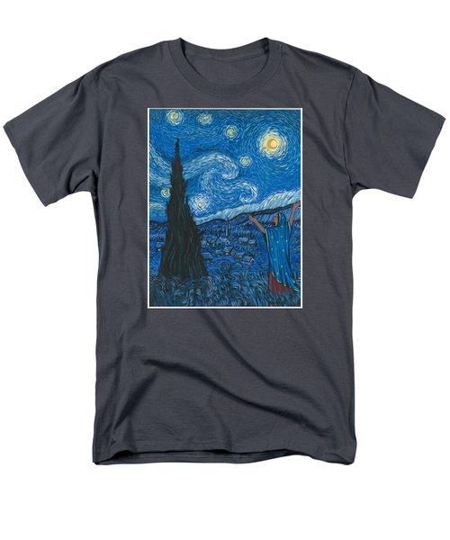 Guadalupe Visits Van Gogh Men's T-Shirt  (Regular Fit) by James Roderick