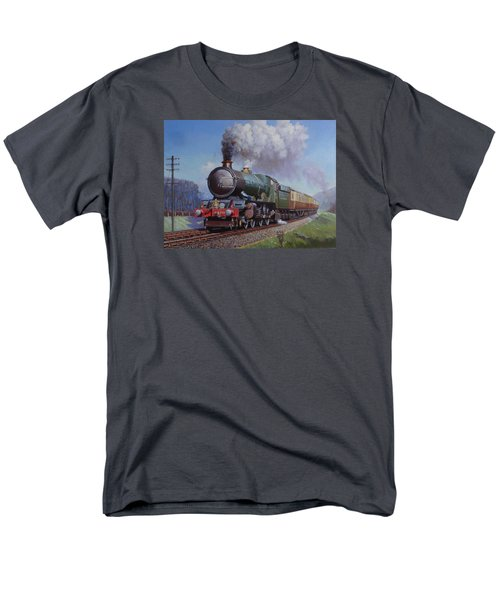 Gwr King On Dainton Bank. Men's T-Shirt  (Regular Fit) by Mike  Jeffries