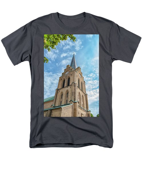 Men's T-Shirt  (Regular Fit) featuring the photograph Halmstad Church In Sweden by Antony McAulay