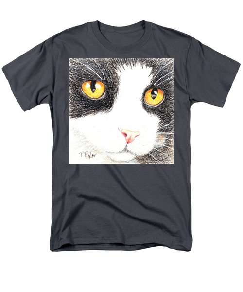 Happy Cat With The Golden Eyes Men's T-Shirt  (Regular Fit) by Terry Taylor