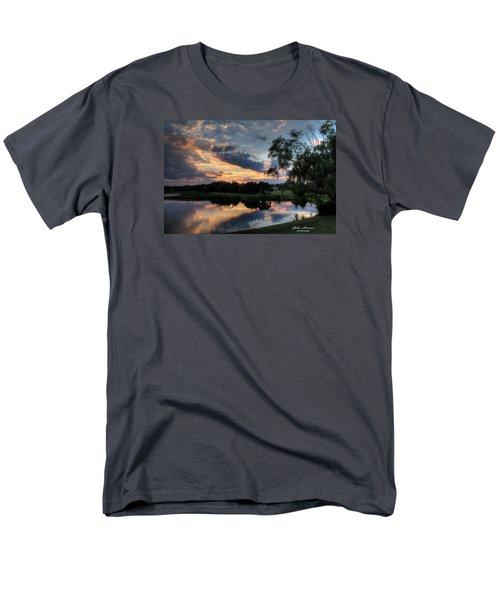 Harbor Reflections Men's T-Shirt  (Regular Fit) by John Loreaux