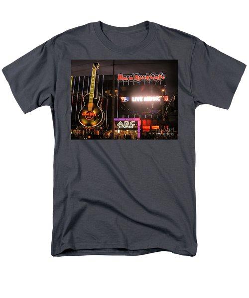 Hard Rock Cafe Las Vegas Strip At Night Men's T-Shirt  (Regular Fit) by RicardMN Photography