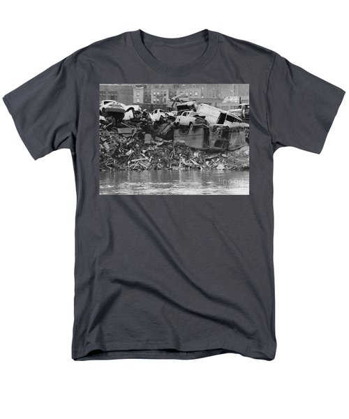 Men's T-Shirt  (Regular Fit) featuring the photograph Harlem River Junkyard, 1967 by Cole Thompson