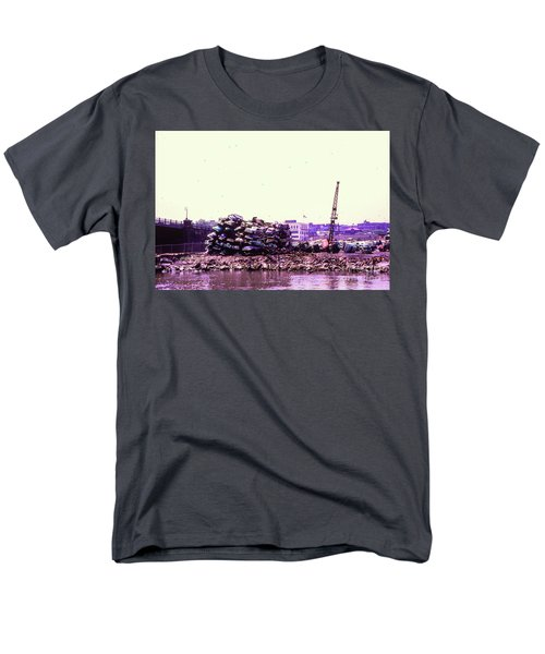 Men's T-Shirt  (Regular Fit) featuring the photograph Harlem River Junkyard by Cole Thompson