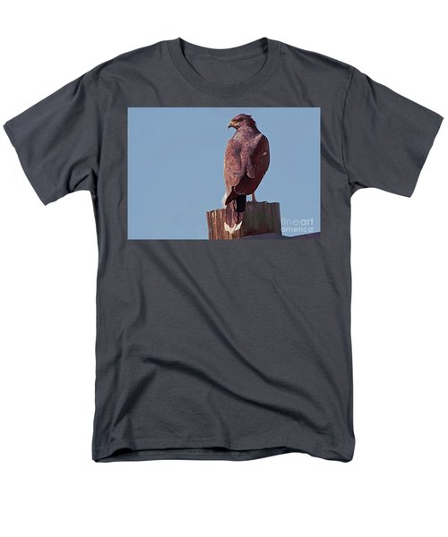 Men's T-Shirt  (Regular Fit) featuring the photograph Harris Hawk by Anne Rodkin