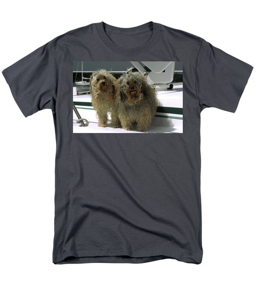 Havanese Dogs Men's T-Shirt  (Regular Fit) by Sally Weigand