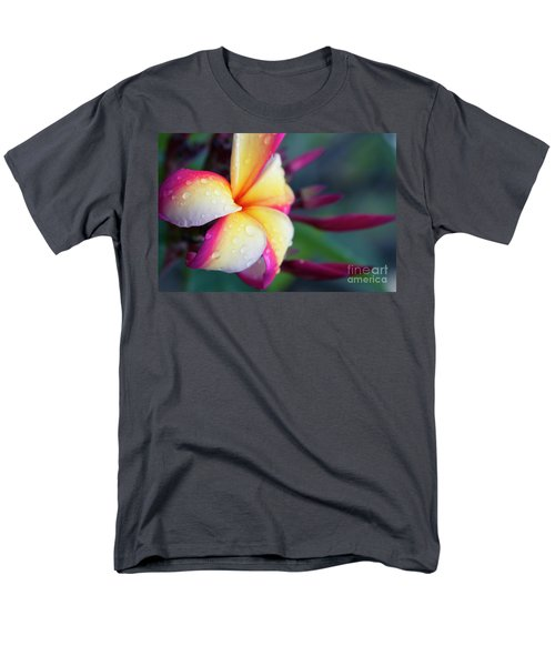 Men's T-Shirt  (Regular Fit) featuring the photograph Hawaii Plumeria Flower Jewels by Sharon Mau