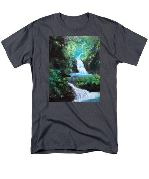 Hawaiian Waterfalls Men's T-Shirt  (Regular Fit) by Jenny Lee