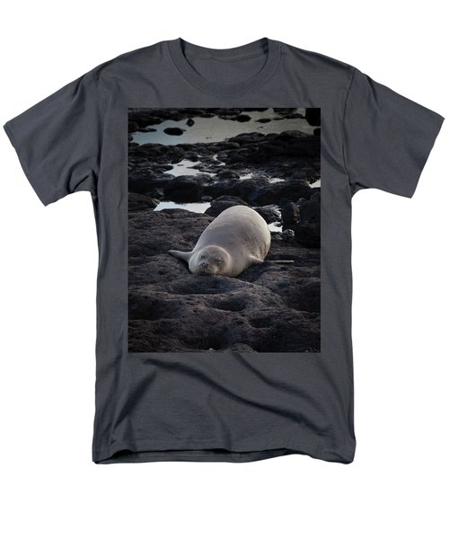 Hawaiian Monk Seal Men's T-Shirt  (Regular Fit) by Roger Mullenhour