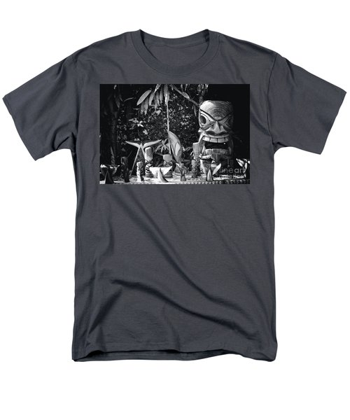 Men's T-Shirt  (Regular Fit) featuring the photograph Hawaiian Tiki Carvings by Sharon Mau