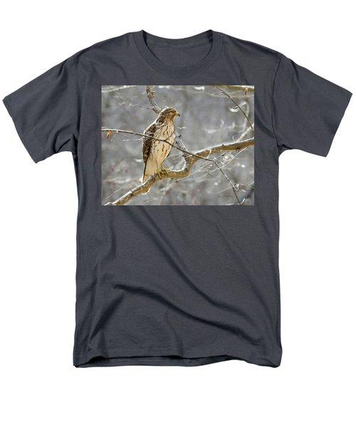 Hawk On Lookout Men's T-Shirt  (Regular Fit) by George Randy Bass