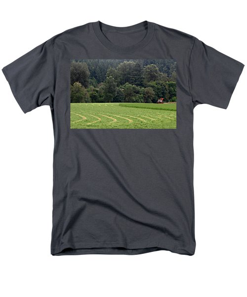 Men's T-Shirt  (Regular Fit) featuring the photograph Haying  by Katie Wing Vigil