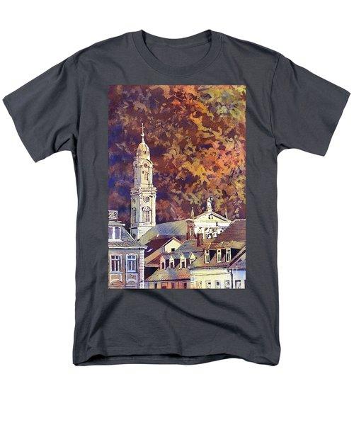 Men's T-Shirt  (Regular Fit) featuring the painting Heidelberg Evening by Ryan Fox