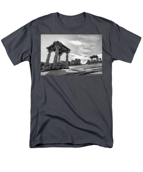 Men's T-Shirt  (Regular Fit) featuring the photograph Hemakuta Hill, Hampi, 2017 by Hitendra SINKAR