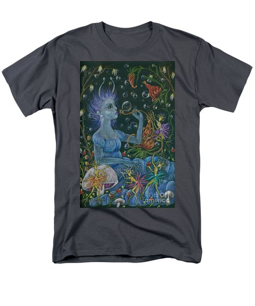 Men's T-Shirt  (Regular Fit) featuring the drawing Her Caterpillar Majesty by Dawn Fairies