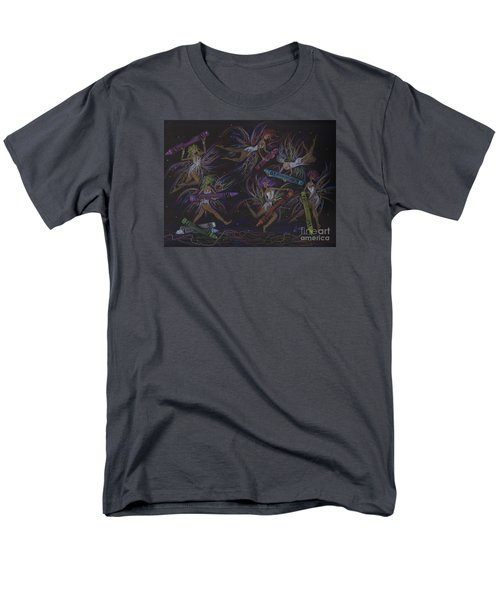 Men's T-Shirt  (Regular Fit) featuring the drawing Here We Go A Coloring... by Dawn Fairies