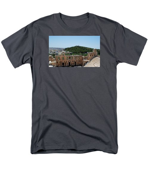 Men's T-Shirt  (Regular Fit) featuring the photograph Herodeons Amphitheatre by Robert Moss