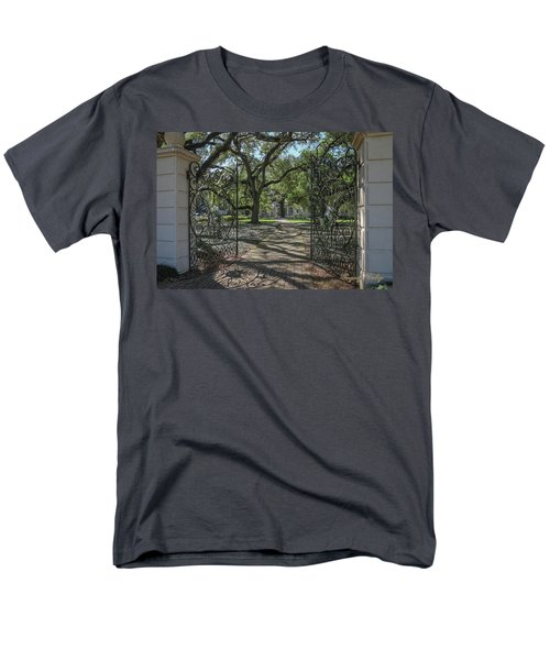 Men's T-Shirt  (Regular Fit) featuring the photograph Heyman House Gates 1 by Gregory Daley  PPSA