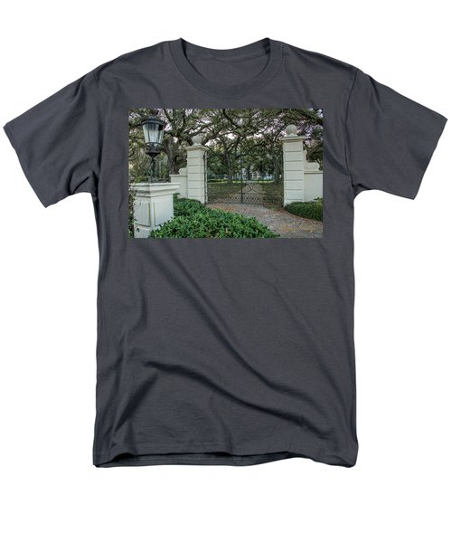 Men's T-Shirt  (Regular Fit) featuring the photograph Heyman House Gates by Gregory Daley  PPSA