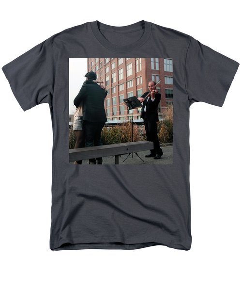 Men's T-Shirt  (Regular Fit) featuring the photograph Highline Serenade by Madeline Ellis