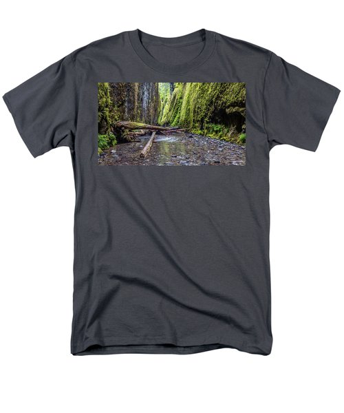 Hiking Oneonta Gorge Men's T-Shirt  (Regular Fit) by Pierre Leclerc Photography