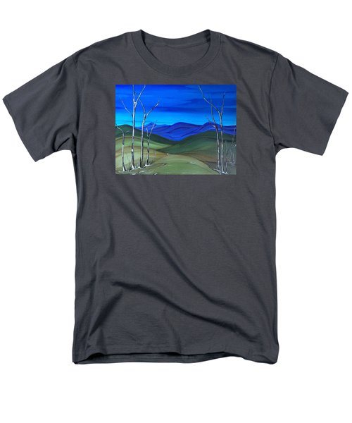 Men's T-Shirt  (Regular Fit) featuring the painting Hill View by Pat Purdy