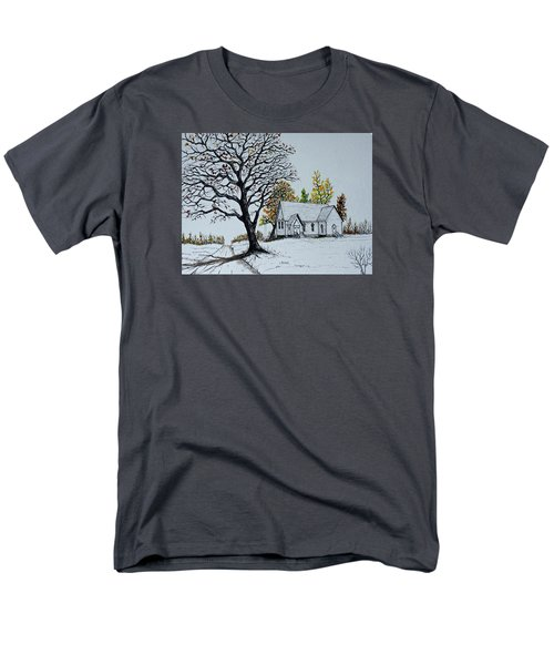 Hilltop Church Men's T-Shirt  (Regular Fit) by Jack G  Brauer