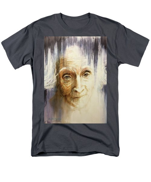 Men's T-Shirt  (Regular Fit) featuring the painting Histories And Memories Of Ancestral Light 3 by J- J- Espinoza