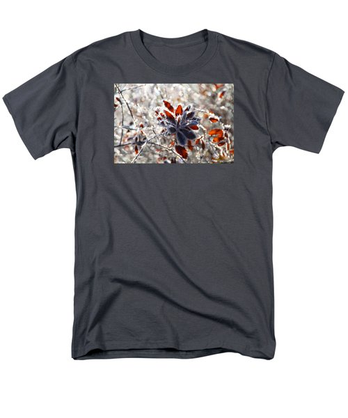 Men's T-Shirt  (Regular Fit) featuring the photograph Hoar Frost - Nature's Christmas Lights  by Peggy Collins
