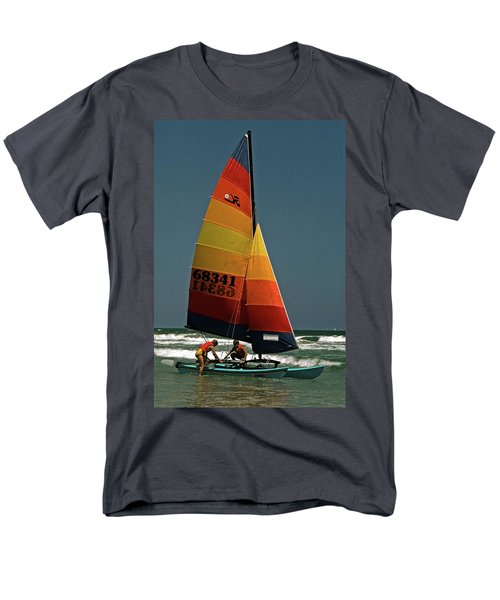 Hobie Cat In Surf Men's T-Shirt  (Regular Fit) by Sally Weigand