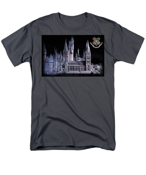 Men's T-Shirt  (Regular Fit) featuring the mixed media Hogwards School  by Gina Dsgn