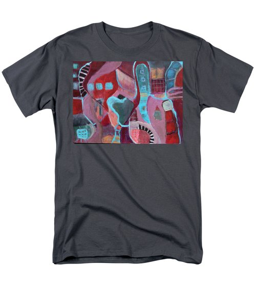 Men's T-Shirt  (Regular Fit) featuring the painting Holiday Windows by Susan Stone