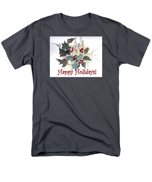 Men's T-Shirt  (Regular Fit) featuring the painting Holidays Card -1 by Dorothy Maier