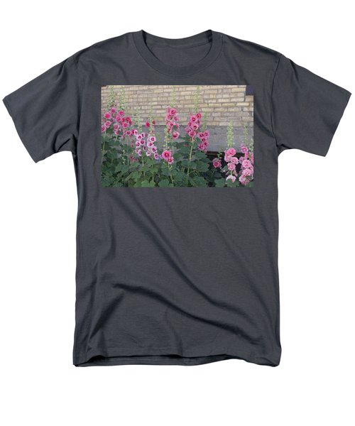 Hollyhocks Men's T-Shirt  (Regular Fit) by Cynthia Powell