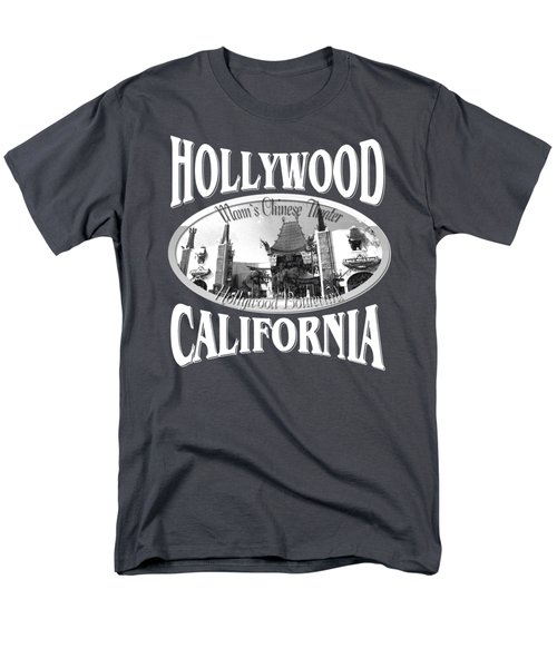 Hollywood California Tshirt Design Men's T-Shirt  (Regular Fit) by Art America Gallery Peter Potter