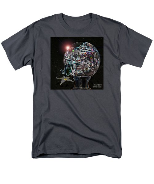Men's T-Shirt  (Regular Fit) featuring the photograph Hollywood Dreaming Marilyn's Star by Cheryl Del Toro
