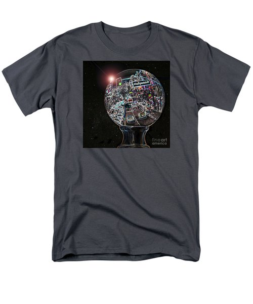 Men's T-Shirt  (Regular Fit) featuring the photograph Hollywood Dreaming - Square Globe by Cheryl Del Toro