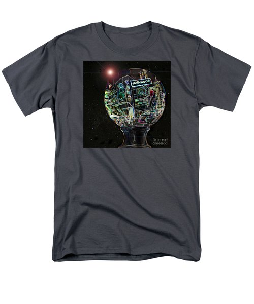 Men's T-Shirt  (Regular Fit) featuring the photograph Hollywood Dreaming - Walk Of Fame by Cheryl Del Toro