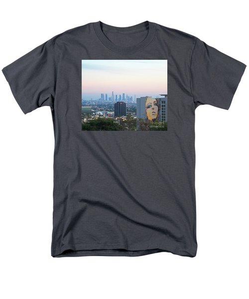 Men's T-Shirt  (Regular Fit) featuring the photograph Hollywood View From Yamashiro's by Cheryl Del Toro