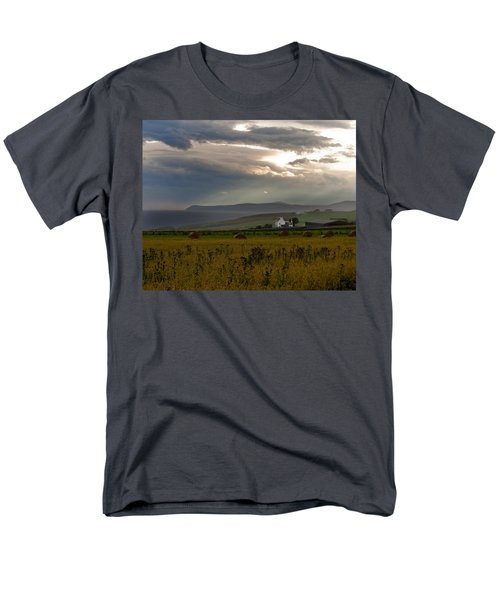 Men's T-Shirt  (Regular Fit) featuring the photograph Home By The Sea Scotland by Sally Ross
