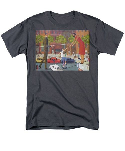 Men's T-Shirt  (Regular Fit) featuring the painting Homecoming by Glenn Quist