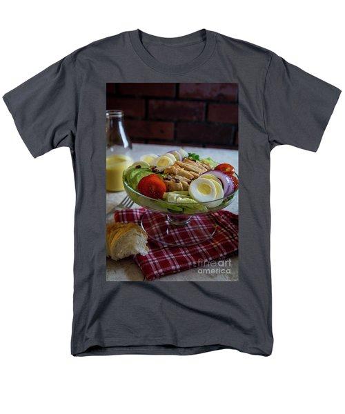 Men's T-Shirt  (Regular Fit) featuring the photograph Honey Mustard Chicken Cobb Salad 1 by Deborah Klubertanz