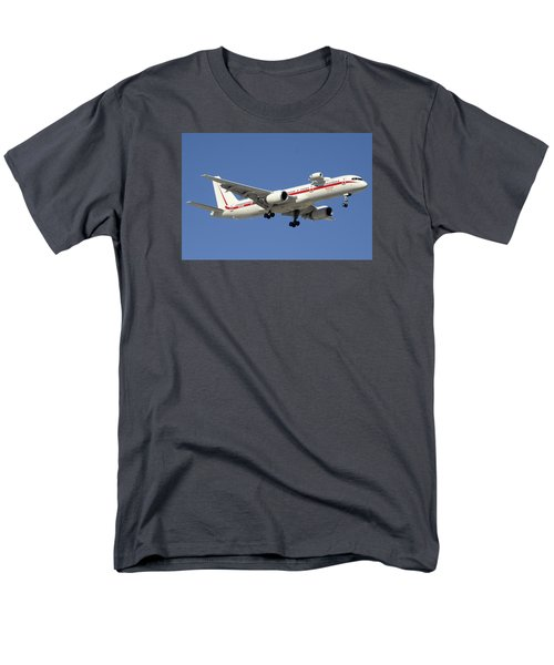 Honeywell Boeing 757-225 N757hw Phoenix Sky Harbor December 7 2015 Men's T-Shirt  (Regular Fit) by Brian Lockett